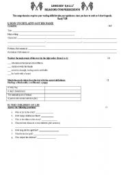 English Worksheets: legend rally reading comprehension
