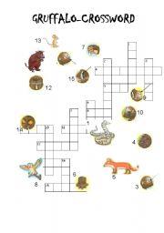 English Worksheets: GRUFFALO Crossword