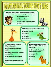 English Worksheet: Funny Personality Test