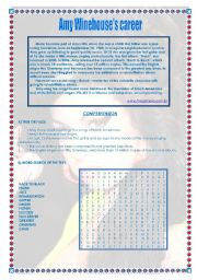 English Worksheet: Amy Winehouse�s career and music