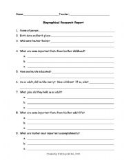 photograph about Printable Biography Worksheets named English worksheets: biography worksheets, web site 111