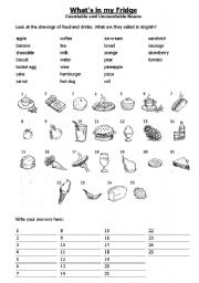 English Worksheet: Whats in your fridge?