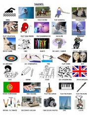 English Worksheets: Talents Vocabulary