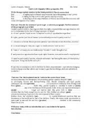 English Worksheets: equality offers prosperity (handout)