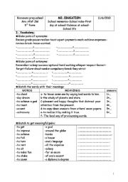 English Worksheets: worksheet ( remedial work)