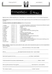 English Worksheets: video activity: Anonymous