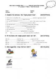English Worksheets: 7 class