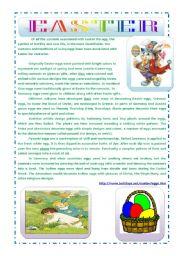 English Worksheet: EASTER - SYMBOL OF EGGS