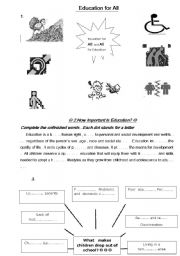 English Worksheets: education for all