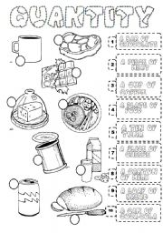 English Worksheets: FOOD QUANTIFIERS
