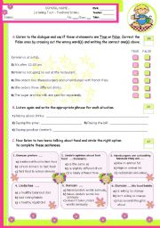 English Worksheet: Fast Food  -  Is it good for you?  -  Listening Test