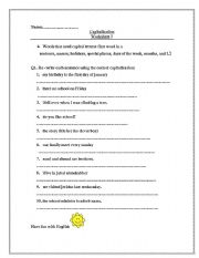 Printables 3rd Grade Capitalization Worksheets english teaching worksheets capitalization capitalization