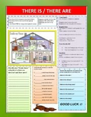 English Worksheets: THERE IS  /  THERE ARE