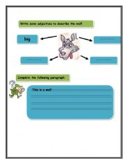 English Worksheets: writing 1
