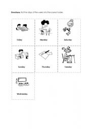 English Worksheets: Days Cut