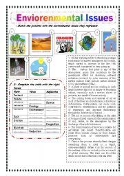 English Worksheet: Environmental concerns