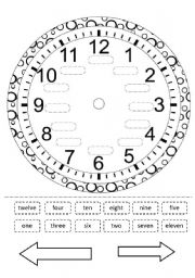 English Worksheet: clock