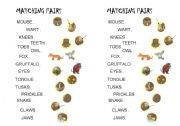 English Worksheet: The Gruffalo - find the matching pairs