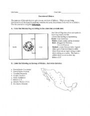 english worksheets overview of mexico. Black Bedroom Furniture Sets. Home Design Ideas