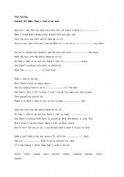 English Worksheet: Phil Collins/Againt All Odds Song Worksheet