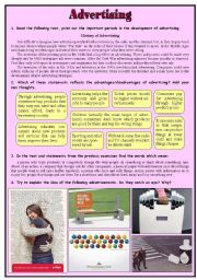 English Worksheet: Advertising