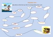 English Worksheets: Treaure Hunt
