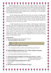 English Worksheet: High unemployment