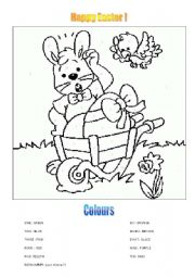 English Worksheet: Happy Easter !