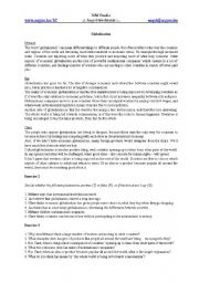 English Worksheets: globalization reading comprehension
