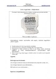 English Worksheets: Letter type