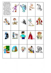 English Worksheets: Occupations Memory Game