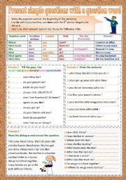 make questions for the underlined words exercises pdf