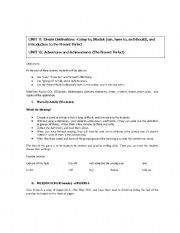 Modals, Going to, and the Present Perfect -American Framework 1, Units 11 and 12 (Complete Lesson Plan)