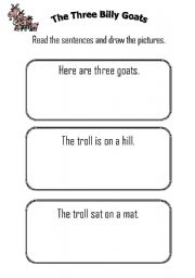 Three Billy Goats worksheets