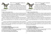 English Worksheet: How to help animals in danger
