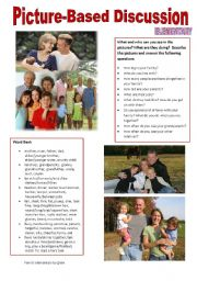 English Worksheet: Picture-based discussion Elementary - (01) Family