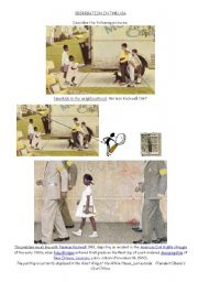 English Worksheet: segregation in the usa (norman rockwell)