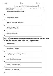 English Worksheets: Punctutation