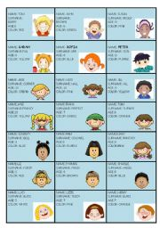 conversation card for young students