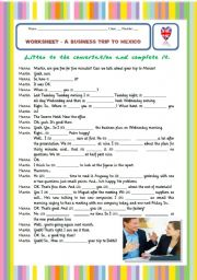 English Worksheet: LISTENING comprehension exercise with AUDIO link, ONLINE exercises - 1/2