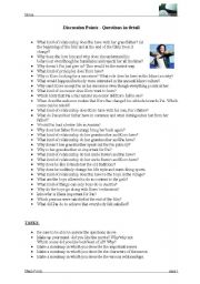 English Worksheets: Whale Rider - discussion points