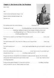 english worksheets wizard of oz worksheets page 5. Black Bedroom Furniture Sets. Home Design Ideas