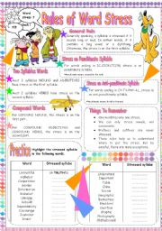 English Worksheet: WORD STRESS