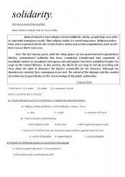English Worksheets: solidarity