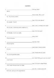 English Worksheets: Question making (Part 3)