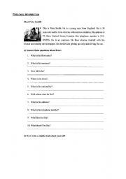 personal information esl worksheet by chrislia. Black Bedroom Furniture Sets. Home Design Ideas