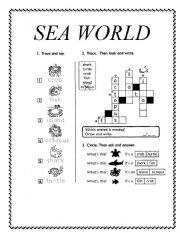 English Worksheets: SEA WORLD
