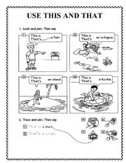 English Worksheets: USE THIS AND THAT
