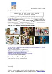 English Worksheets: Movie Session - Just go with it