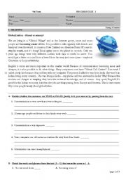 English Worksheet: Globalization